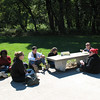 Good picnicking weather! L to R: Ngozi, Kristen, Terry, Steph Josh, and Leanne