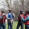 Part of getting ready is figuring out who your canoe partner should be. This involves pleasant bantering and not a little joking about who is the most experienced paddler!