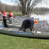 Before hitting the water, we split up into small groups for a canoe safety and paddling lesson.