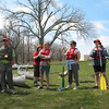 The all-volunteer canoe guides from Friends of the Chicago River -- they wear orange caps so they're easily identified on the water, and are experts at paddling and water rescue. More importantly, they're cool people!